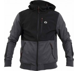 EMERSON MEN'S SOFT SHELL RIBBED JACKET WITH HOOD