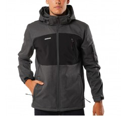 EMERSON MEN'S SOFT SHELL JACKET WITH HOOD